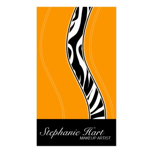 Makeup Artist Business Card - Bold Zebra Print