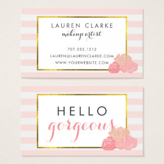 Makeup Artist Cards | Hello Gorgeous Double-Sided