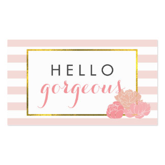 Makeup Artist Cards | Hello Gorgeous Double-Sided Pack Of Standard Business Cards