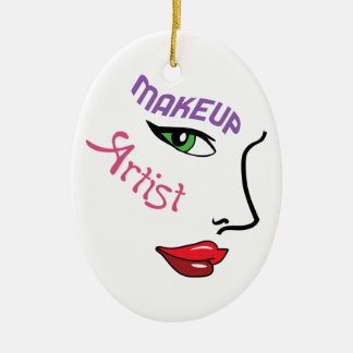 Makeup Artist Ceramic Ornament