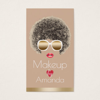 Makeup Artist Chic Beauty in Sunglasses Modern Business Card
