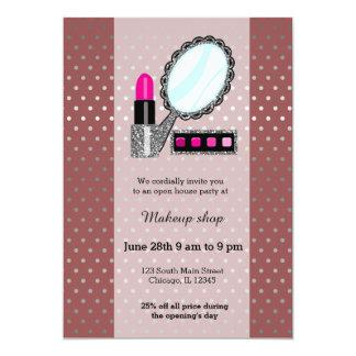 Makeup artist - choose background color 13 cm x 18 cm invitation card