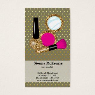 Makeup artist - choose background colour business card