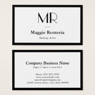 Makeup Artist - Clean Stylish Monogram Business Card