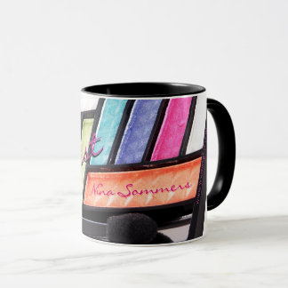 Makeup Artist Colorful Eyeshadow Palette Coffee Mug