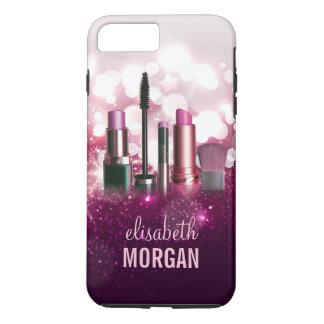 Makeup Artist Cosmetician - Pink Beauty Glitter iPhone 8 Plus/7 Plus Case