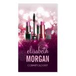 Makeup Artist Cosmetician - Pink Beauty Glitter Pack Of Standard Business Cards