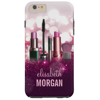 Makeup Artist Cosmetician - Pink Beauty Glitter Tough iPhone 6 Plus Case
