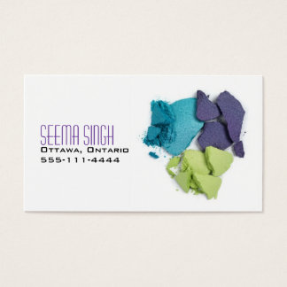 Makeup Artist cosmetics 3 faces Business Card