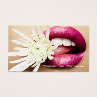 Makeup Artist cosmetics lips white flower