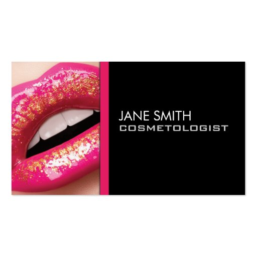 Makeup Artist Cosmetologist Cosmetology Elegant Business Card Templates