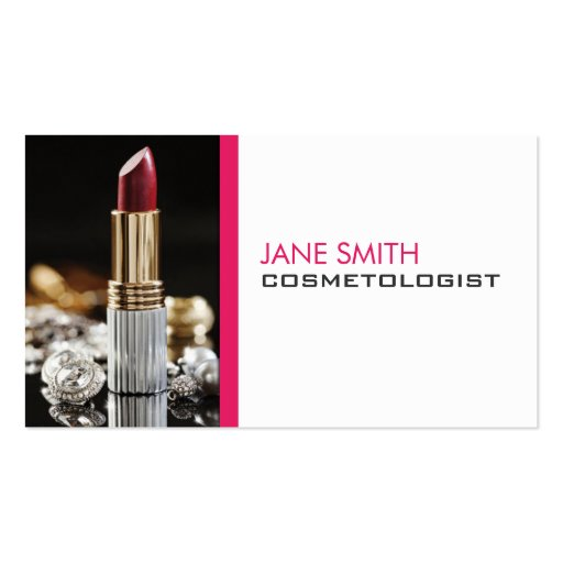 Makeup Artist Cosmetologist Cosmetology Elegant Business Cards
