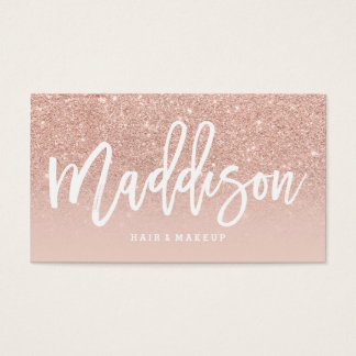 Makeup artist custom typography blush rose gold