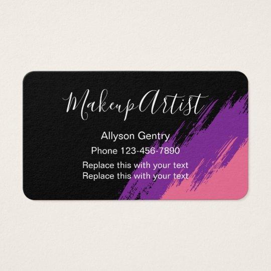 Makeup Artist Design Business Card