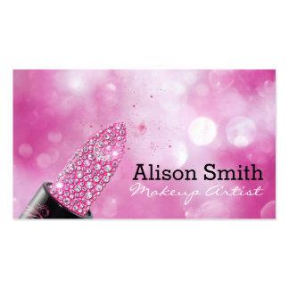 Makeup Artist/Diamonds Lipstick Pack Of Standard Business Cards
