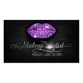 Makeup Artist/Diamonds Sparkle Lips Pack Of Standard Business Cards