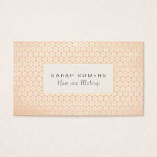 Makeup Artist Elegant Light Pink Pattern Business Card