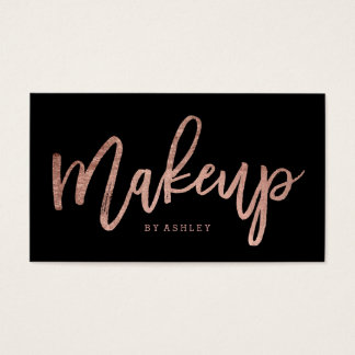 Makeup artist elegant rose gold typography black