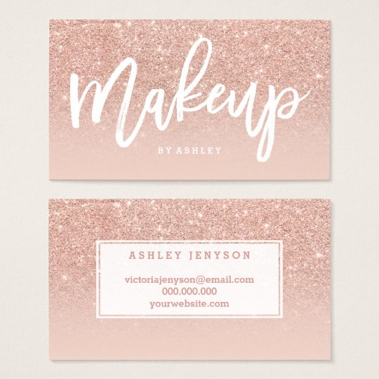 Makeup artist elegant typography blush rose gold business card makeup artist elegant typography blush rose gold business card colourmoves