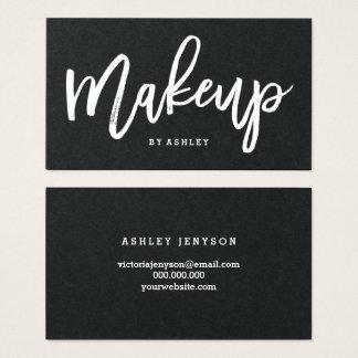 Makeup artist elegant typography business card