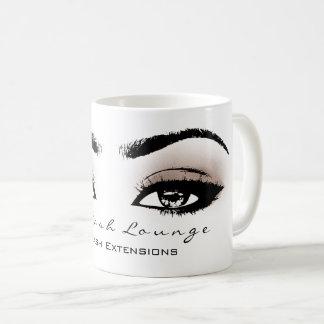 Makeup Artist Eyelash Extension Studio Beige Eye Coffee Mug