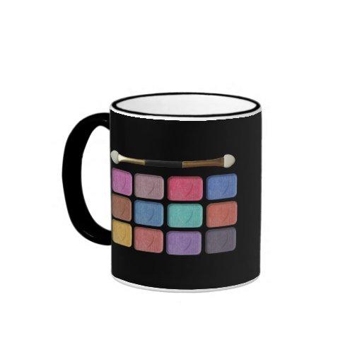 Makeup artist eyeshadows palette   digital design mugs
