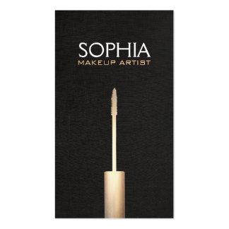 Makeup Artist Faux Gold Foil Mascara  Logo Pack Of Standard Business Cards