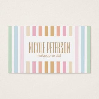 makeup artist - fine pastel colors business card