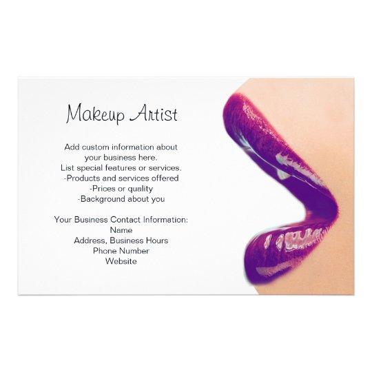 Makeup Artist Flyer Zazzle Com Au