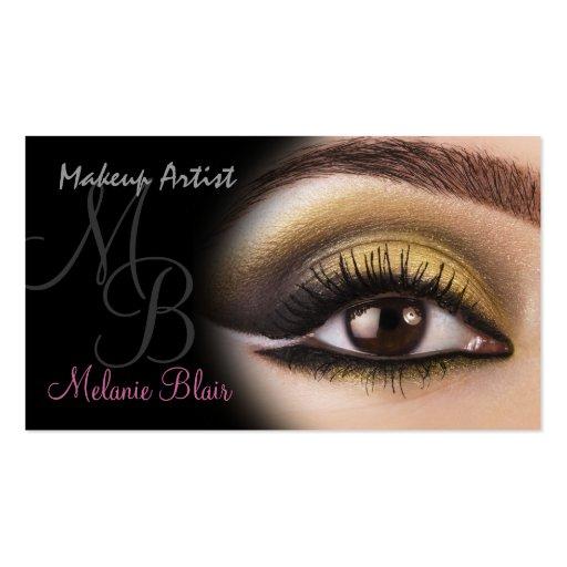 Makeup Artist Gold Eye Business Card