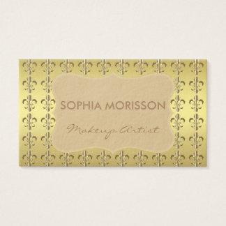 Makeup Artist Golden Fleur-de-lis Golden Monogram
