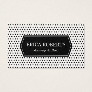 Makeup Artist & Hair Stylist Elegant Polka Dots Business Card