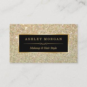 Makeup artist business cards zazzle au makeup artist hair stylist funky gold glitter business card colourmoves