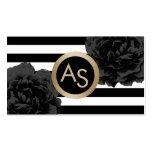 Makeup Artist Hair Stylist Modern Monogram Floral Pack Of Standard Business Cards
