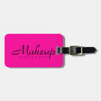 Makeup Artist Hot Pink Luggage Tag
