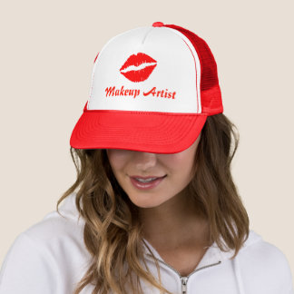 Makeup Artist Lip Print Trucker Hat