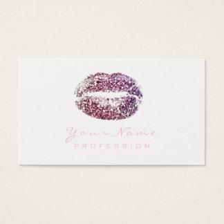 Makeup Artist Lips Beauty Glitter Burgundy Pink Business Card