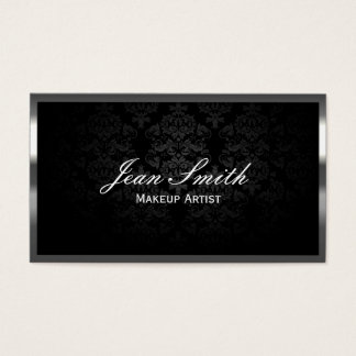 Makeup Artist Luxury Metal Border Business Card