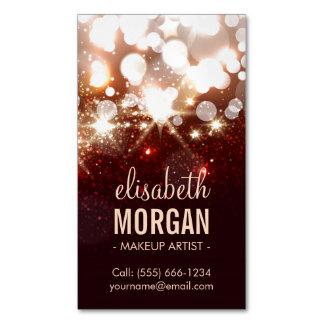Makeup Artist - Modern Glitter Sparkle Magnetic Business Card