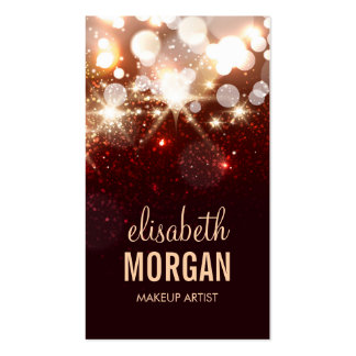Makeup Artist - Modern Glitter Sparkle Pack Of Standard Business Cards