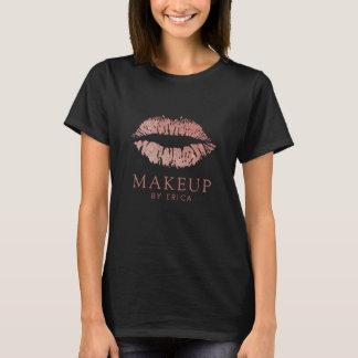 Makeup Artist Modern Rose Gold Glam Lips T-Shirt