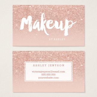 Makeup artist modern typography blush rose gold