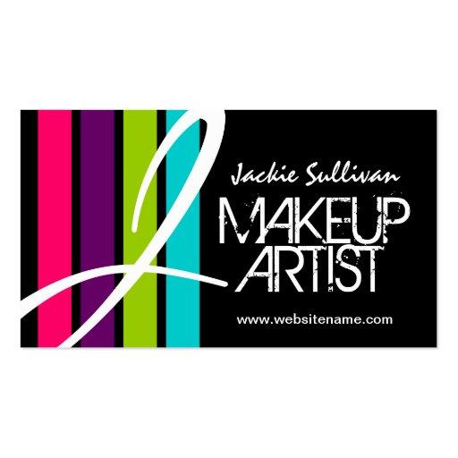 Makeup Artist Monogram Business Cards