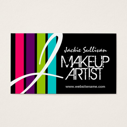 Makeup Artist Monogram Business Cards
