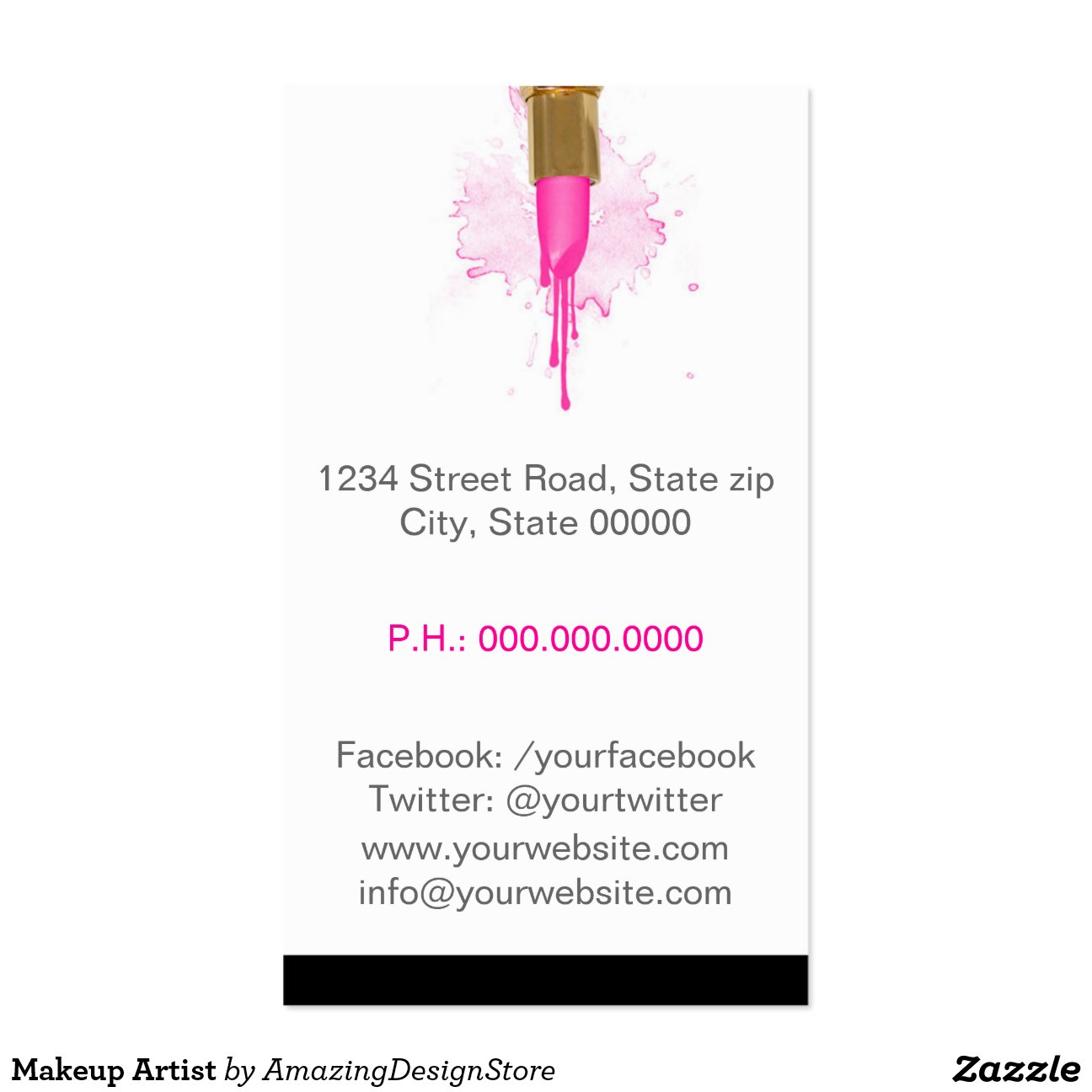 Makeup artist business cards templates mandegarfo makeup artist business cards templates reheart Image collections