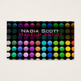 Makeup Artist Palette Business Card Bright