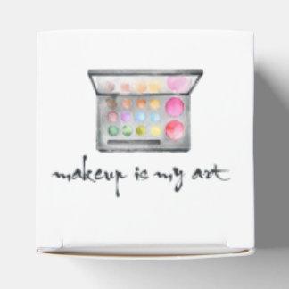 """Makeup Artist Palette - """"Makeup Is My Art"""" Quote Favour Box"""