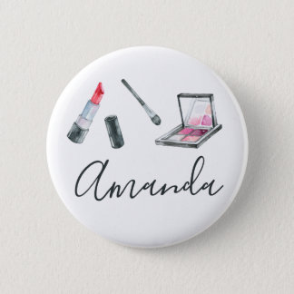 Makeup Artist Personalized Custom Art 6 Cm Round Badge