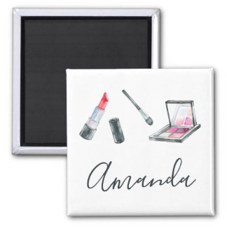 Makeup Artist Personalized Custom Art Magnet