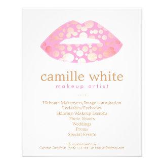 Makeup Artist Pink and Gold Lips Beauty Salon 11.5 Cm X 14 Cm Flyer
